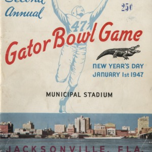 Program, Football, North Carolina State versus University of Oklahoma, 01 January 1947