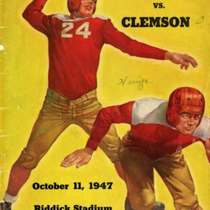 Program, Football, North Carolina State versus Clemson, 11 October 1947