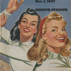 Program, Football, North Carolina State versus Chattanooga, 1 November 1947