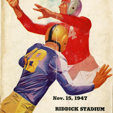 Program, Football, North Carolina State versus Wake Forest, 15 November 1947