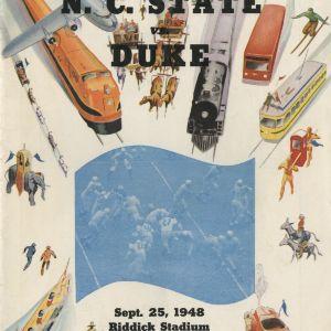 Program, Football, North Carolina State versus Duke, 25 September 1948