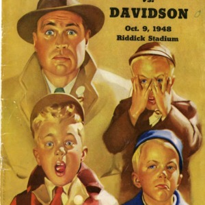 Program, Football, North Carolina State versus Davidson, 9 October 1948