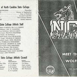 Media guide, Football, North Carolina State, 1949 season
