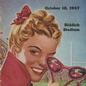 Program, Football, North Carolina State versus Florida, 18 October 1947