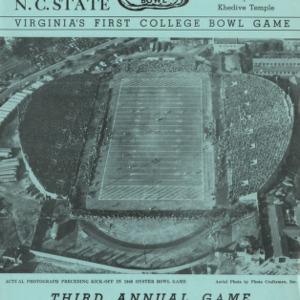 Program, Football, North Carolina State versus Virginia Polytechnic, 29 October 1949