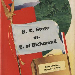 Program, Football, North Carolina State versus Richmond, 5 November 1949
