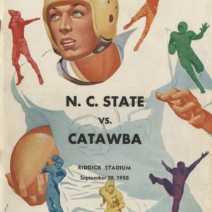 Program, Football, North Carolina State versus Catawba, 30 September 1950