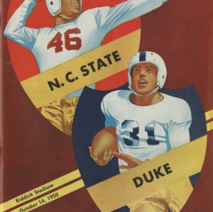 Program, Football, North Carolina State versus Duke, 14 October 1950