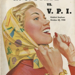 Program, Football, North Carolina State versus  Virginia Polytechnic , 28 October 1950