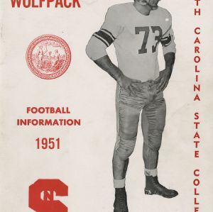 Media guide, Football, North Carolina State, 1951 season