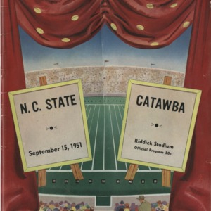 Program, Football, North Carolina State versus Catawba, 15 September 1951