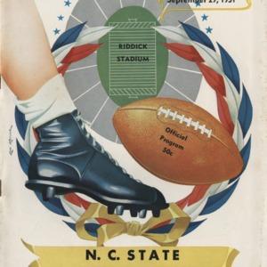 Program, Football, North Carolina State versus Wake Forest, 29 September 1951