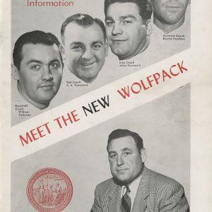 Media guide, Football, North Carolina State, 1952 season
