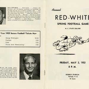 Program, Football, Annual Red-White spring football game,  2 May 1952