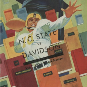 Program, Football, North Carolina State versus Davidson, 11 October 1952