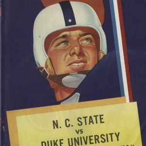 Program, Football, North Carolina State versus Duke, 18 October 1952