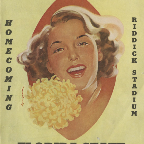 Program, Football, North Carolina State versus Florida State, 25 October 1952