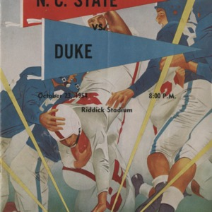 Program, Football, North Carolina State versus Duke, 23 October 1954