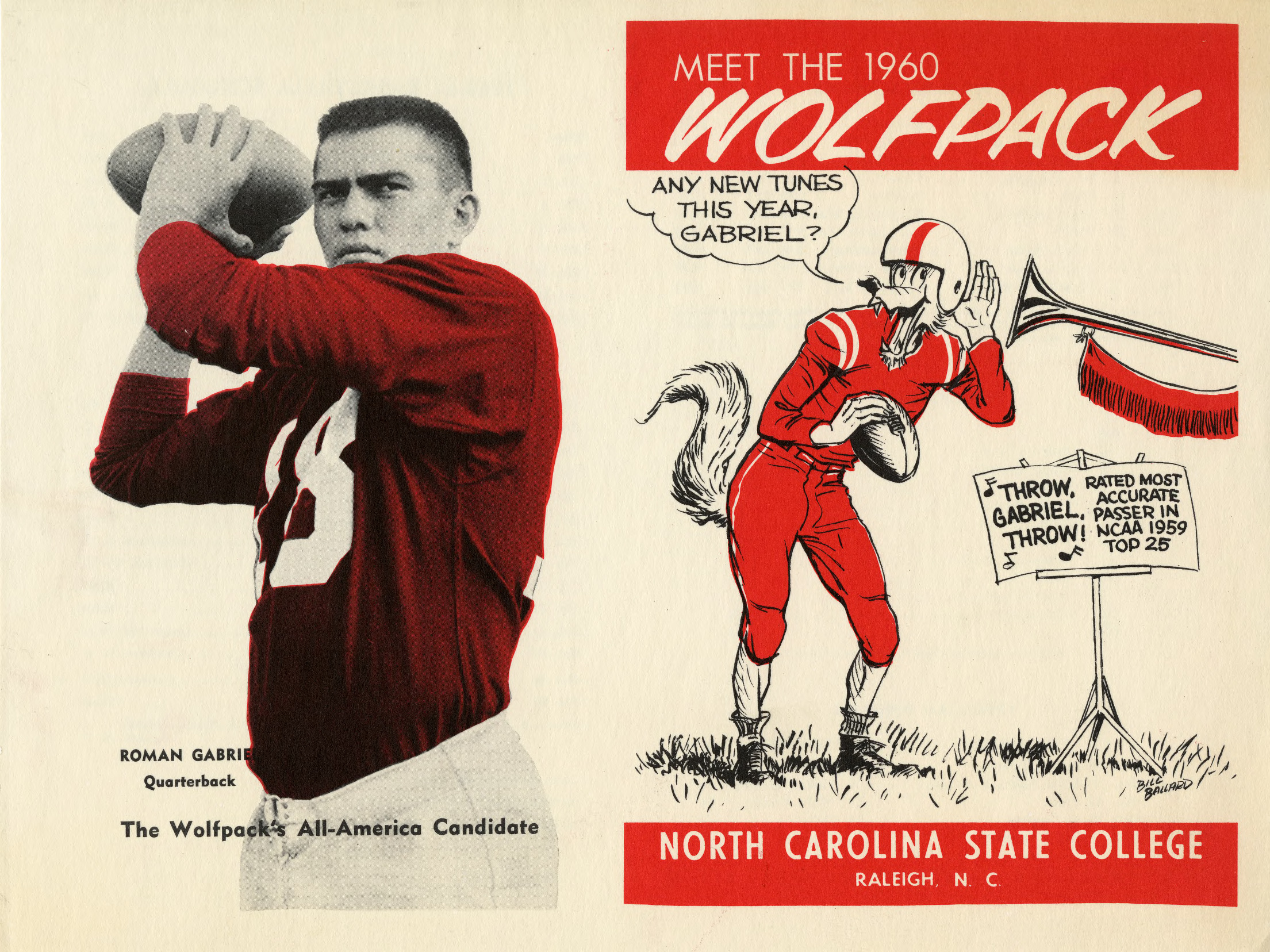 Schedules, Football and basketball, North Carolina State, 1960 season