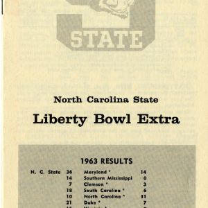 Media guide, Men's football, North Carolina State Liberty Bowl Extra Results, 1963 season
