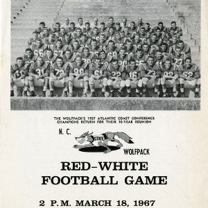 Program, Football, North Carolina State's Red-White Game, 18 March 1967