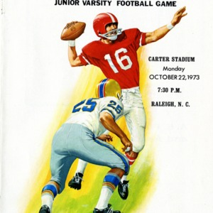 Program, Men's football, North Carolina State versus Wake Forest, 22 October 1973