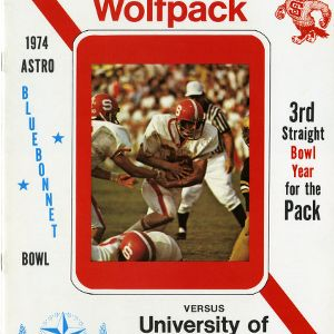 Program, Football, North Carolina State versus Houston, 23 December 1974