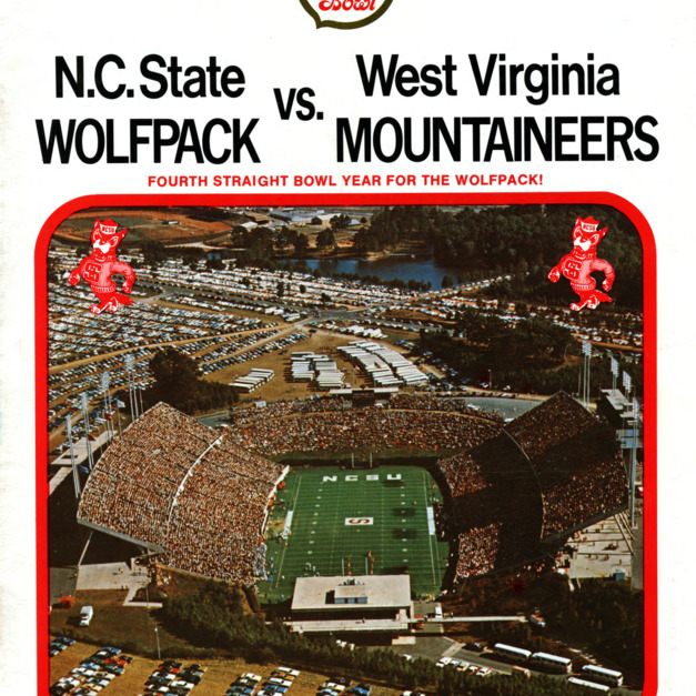 Program, Football, North Carolina State versus  West Virginia, 31 December 1975