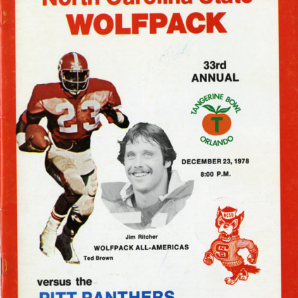 Program, Football, North Carolina State versus Pittsburgh, 23 Decemeber 1978