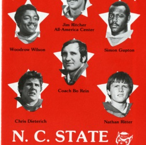 Brochure, Football, North Carolina State, 1979 season