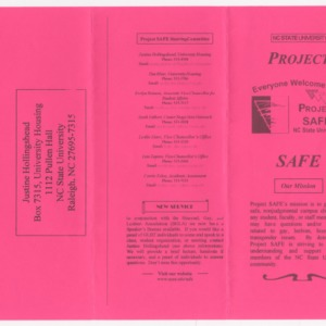 Project Safe -- NC State University brochure