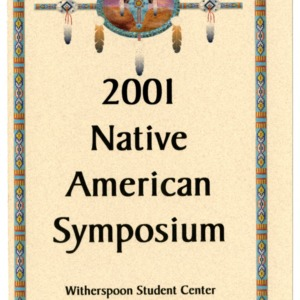 2001 Native American Symposium schedule