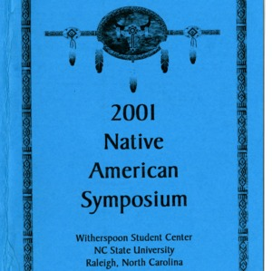 2001 Native American Symposium program