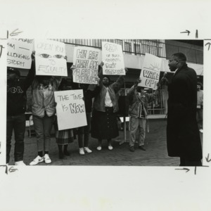 M.A.R.C.H. protest for African American equality, with Kevin Howell at the microphone