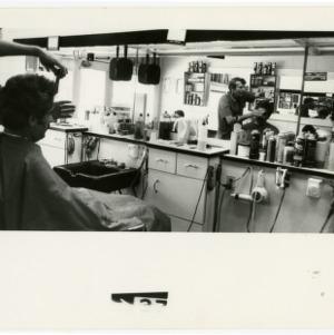 Interior of a barber shop