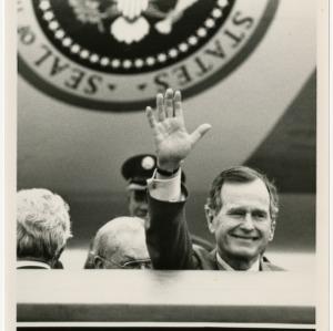 President George H.W. Bush at RDU