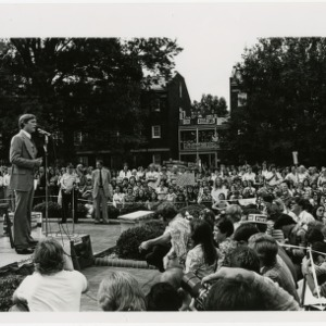 Jack Ford gives speech at Meredith College