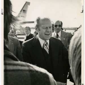 Gerald Ford at the airport