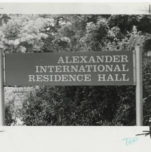 Alexander International Residence Hall Sign