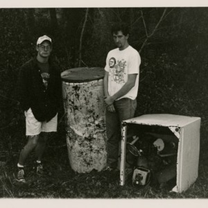 Students standing with appliances found on Centennial Campus