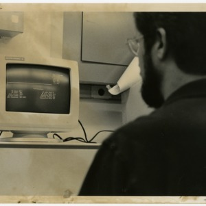 Computer Screen and Man