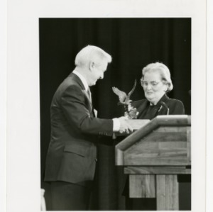 Madeleine Albright and Jim Hunt at the Emerging Issues Forum