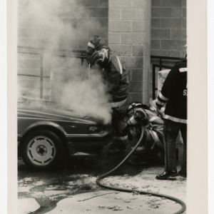 Student's car fire is attended by the Raleigh Fire Department