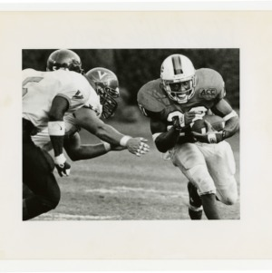 NCSU football charges down the field