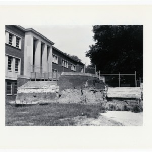 Construction for D.H. Hill Jr. Library addition