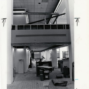 Interior construction for D.H. Hill Jr. Library addition