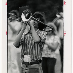 Young man on trombone