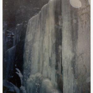 Frozen waterfall on Mt. Washington