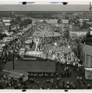 VIew of the fairgrounds from above