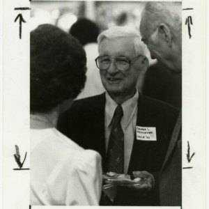 Alum greets old friends at the 100th year celebration ceremony